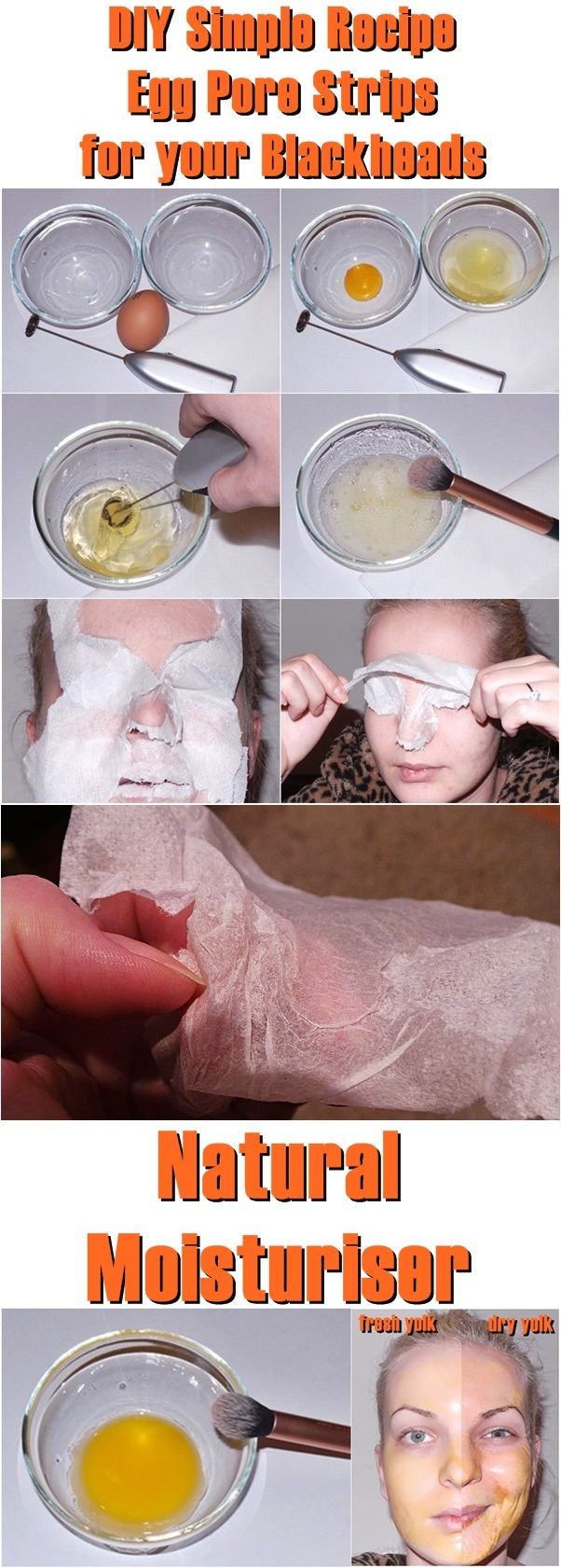 DIY Simple Recipe Egg Pore Strips for your Blackheads