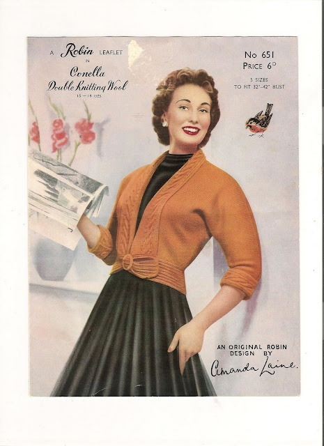 Vintage Knitting Patterns styles from the 1940's to 1950's
