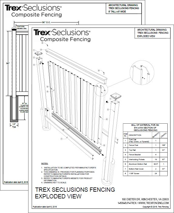 Best Trex Fencing Images On   Patio Backyard And