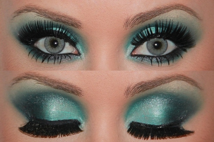 eyeshadow!!! kind of intense and heavy, but with the right costume (or different colors) it might look alright ;)