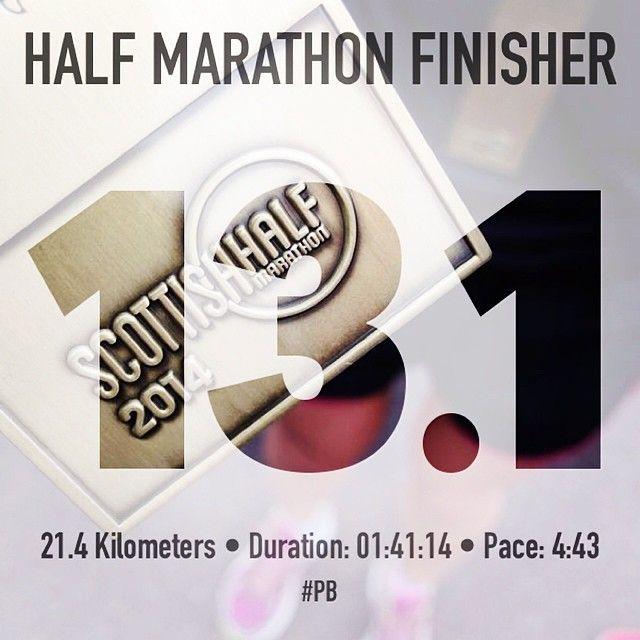 Great pace in the Scottish Half Marathon!