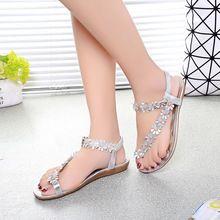 Verano sandalias de mujer Sandalias de Las Mujeres de Bohemia Flor Zapatos de Playa Sandalias Femininas Casual Thong Pisos sapato feminino RD863522(China (Mainland))