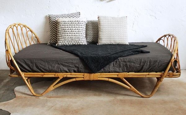 Einzelbett Doppelbett Betten Rattanbett Rattanbett