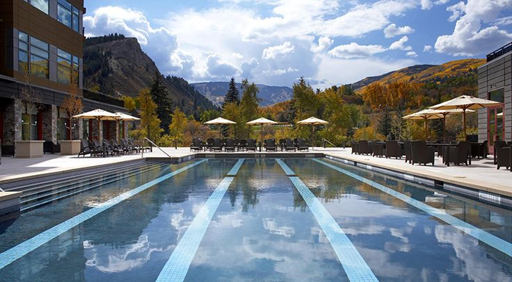 Swim with views of snow-capped mountains - The Westin Riverfront Resort and Spa at Beaver Creek Mountain #svnlife #colorado