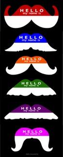 Moustache nametags