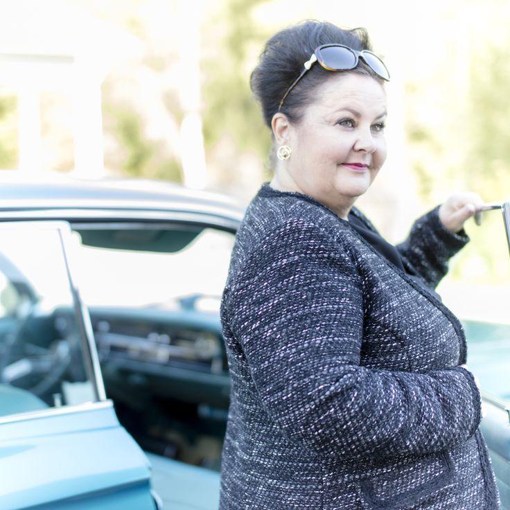 Camille Blazer Photo: Nanna Hänninen Make up&Hair: Satu Arvo Model: Leena Vilppo