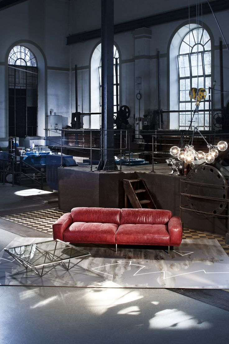 Sofa Lorenzo Leder Rot By Kare Design/Studio Divani/Made In Italy!