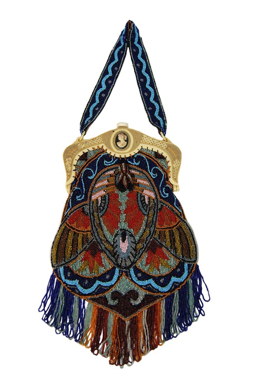 Late 1900 cameo Celluloid & Bead bag