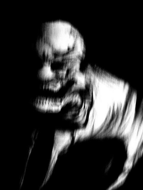 Demonic entity photographed during a séance at Retchford House,1933.  Medium Elizabeth Stolwort had been reported missing a week after the events that night and was eventually found in woods nearby her home. Massive blood loss was the cause of death due to several deep lacerations across the body and both eyes had been gouged out. Others who had attended the sitting suffered from mental breakdowns or hallucinations, two had commited suicide.