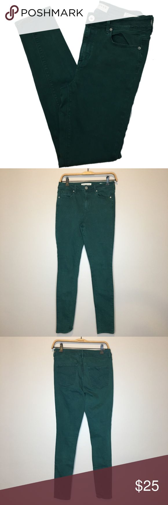 "Bullhead High Rise Skinniest Teal Jeans - Size 7 Great condition Bullhead High Rise Skinniest Teal Skinny Jeans in size 7.  Inseam: 28"" Materials: 64% cotton, 34% rayon, 2% spandex. Bullhead Jeans Skinny"