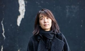 Han Kang, poet/author. Portrait by David Levene for the Guardian.