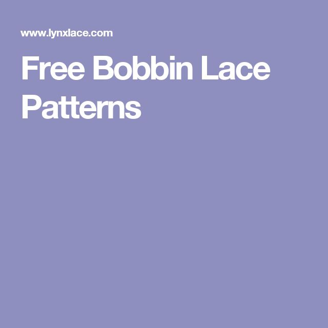 Free Bobbin Lace Patterns …