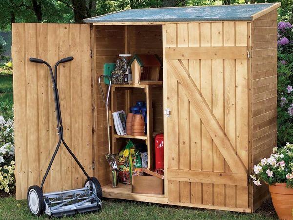 Oltre 25 fantastiche idee su contenitore per legna da - Armadietto legno per esterno ...