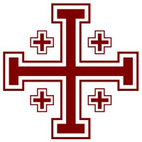 Jerusalem Cross  - The four smaller crosses are said to symbolize either the four Gospels or the four directions in which the Word of the Messiah spread from Jerusalem.