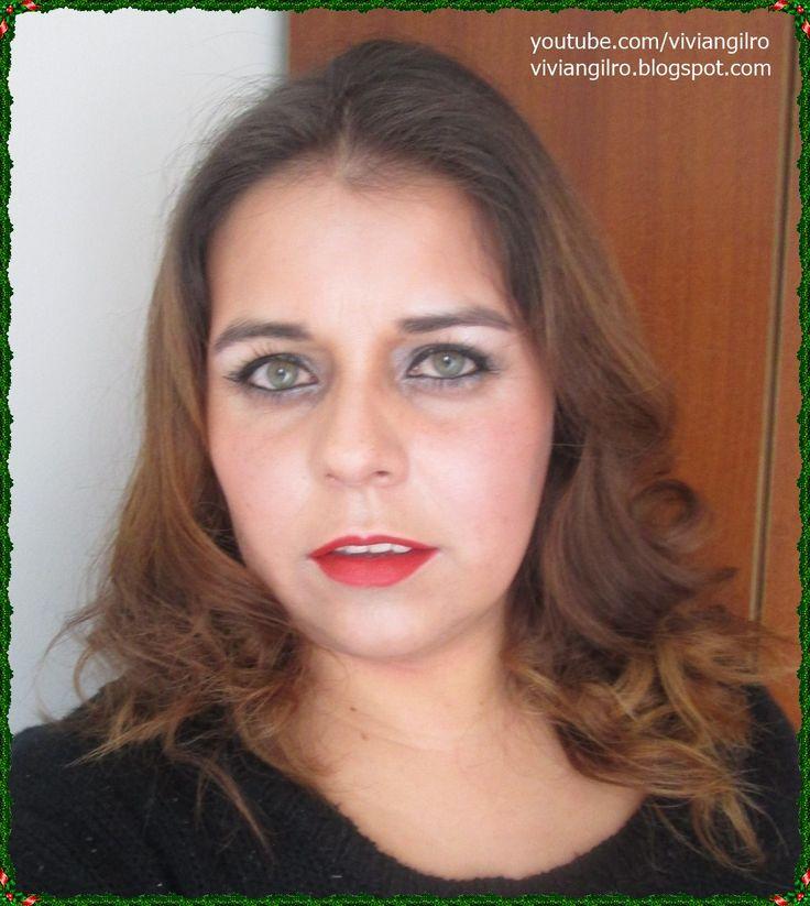 Maquillaje navideño para principiantes en https://www.youtube.com/watch?v=mY8eTan3_nY