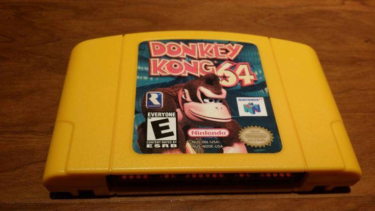 Donkey Kong 64 Nintendo 64 n64 video game, donkey Kong 64, dk64, n64 donkey kong, Nintendo 64 game donkey kong 64, n64 console - pinned by pin4etsy.com