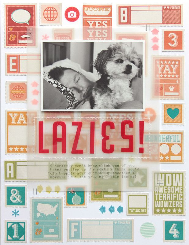 Lazies by dearlydee at @studio_calico using the Sandlot Scrapbook kit
