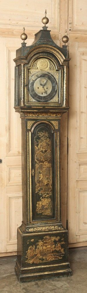 Antique Store Online ~ Belle Brocante ~ www.inessa.com ~ English Pagoda Long Case Clock - Inessa Stewart's Antiques