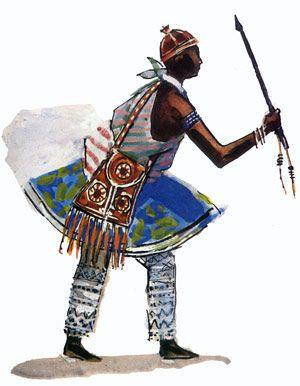"""Oxóssi - Imagens retiradas do livro """"Os Deuses Africanos no Candomblé da Bahia"""" de Caribé"""