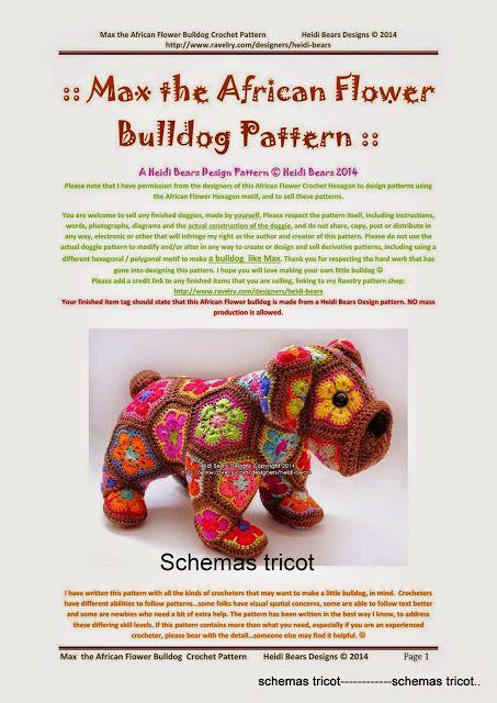 African Flower Amigurumi Free : 17 basta bilder om Crochet - African flower amigurumi ...