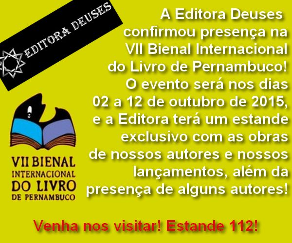 Clube do Livro! : [Novidade] Editora Deuses na Bienal Internacional ...