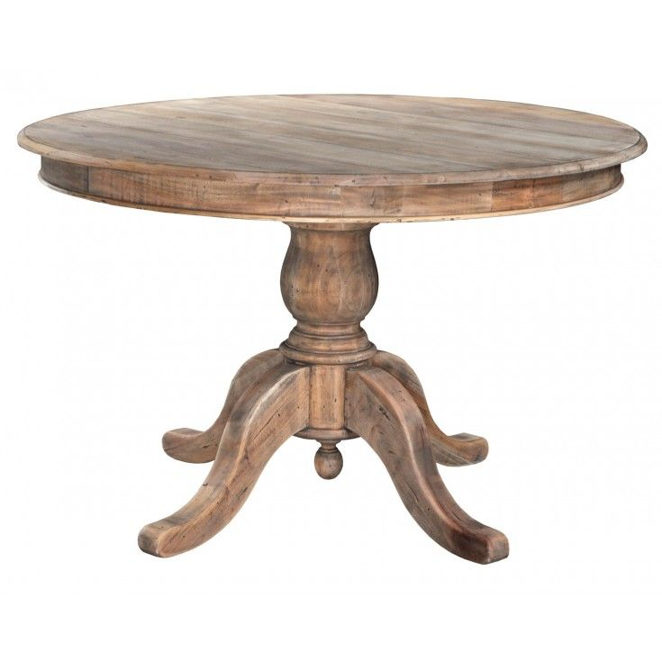 A perfect place to gather and enjoy a meal with family and friends, our 4' round pedestal dining table has a classic farmhouse design. Constructed of solid plantation grown mahogany it is both durable and beautiful. Comfortably seats four.