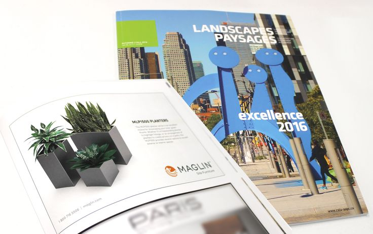 Maglin's MLP1500 Planter series was presented in the Landscapes Paysages 2016 Fall Issue.