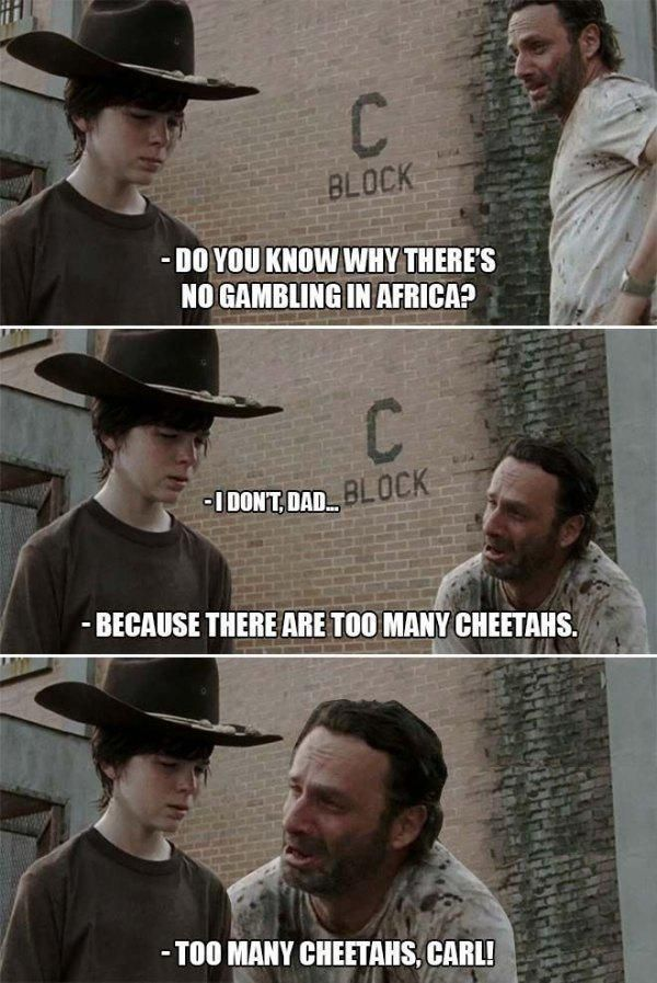 Rick Grimes from The Walking Dead tells the best dad jokes