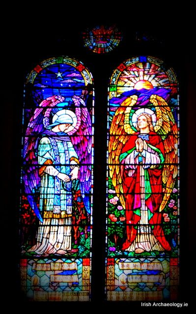 Stained glass window, Christchurch cathedral, Waterford city, Ireland. It's attributed to Alfred Ernest Childs, a Dublin based artist who specialised in stained glass.