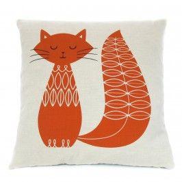 Cat Cushion - Burnt Orange