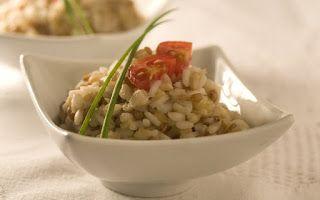 COMIDINHAS FÁCEIS E SAUDÁVEIS: Risoto de grãos light (aveia, cevada e trigo)