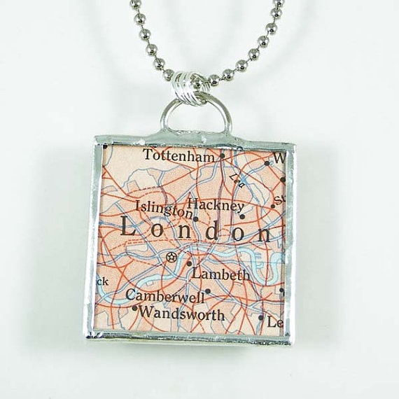 London Map Pendant by XOHandworks $20London Map