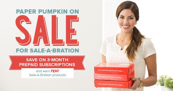 Three month subscription on sale! details on my blog post  www.lauramilligan.com  Paper Pumpkin, Craft Kit, Papercrafting,