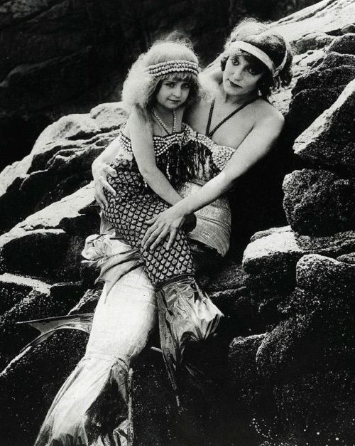 "Production still of ""Mermaid Land"" in the lost film A DAUGHTER OF THE GODS (1916, dir. Herbert Brenon)"