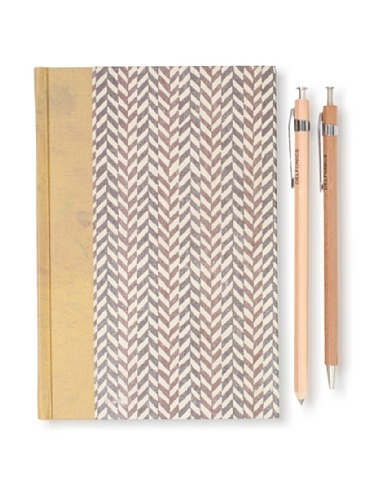 55% OFF Sweet Bella Classic Agenda and Wood Pen and Pencil Set