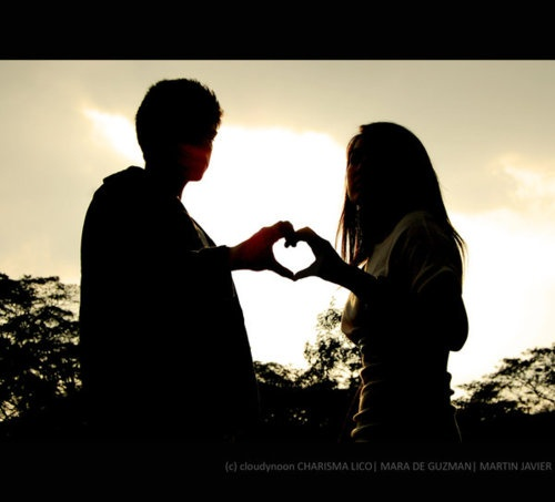 <3: Heart, Silhouettes, Things, Gold, Shadows, Couples