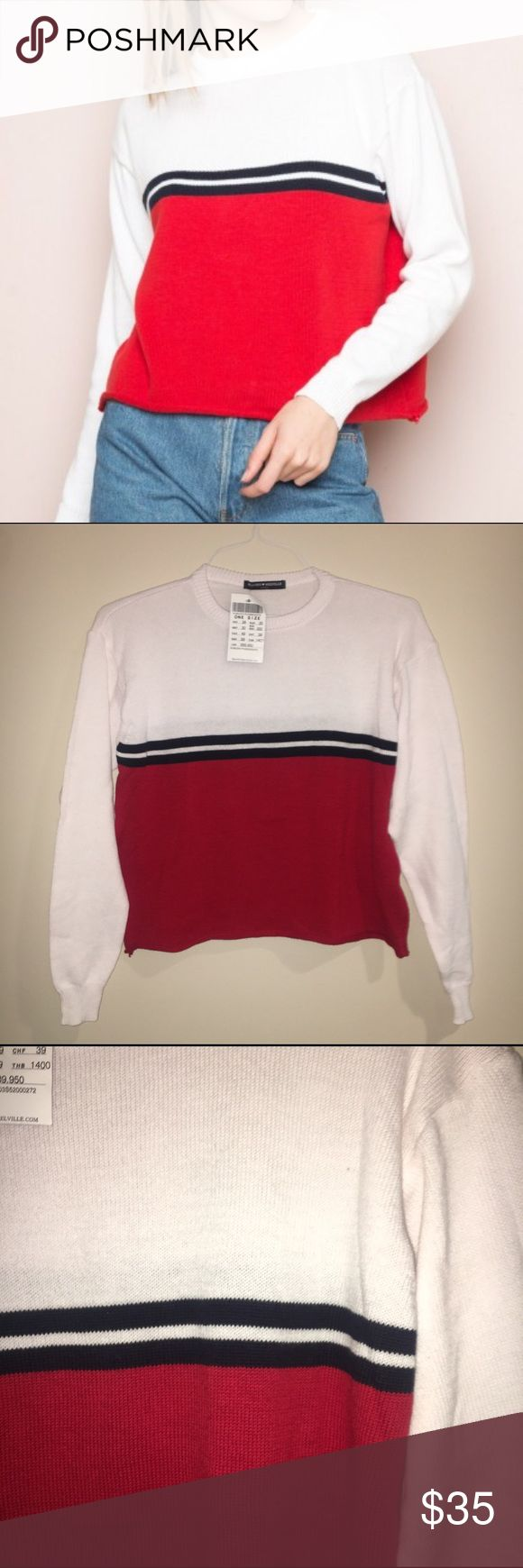 Brandy Melville sweater Never been worn!! Super cute one size fits most, this is super soft!! Brandy Melville Sweaters