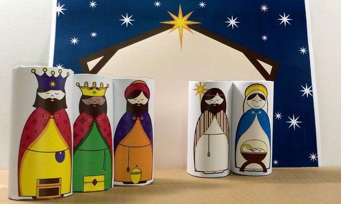 98 best navidad images on pinterest christmas candles advent and beln sencillo con rollos de papel higinico nativity scenescribchristmas ideasdiy solutioingenieria Images
