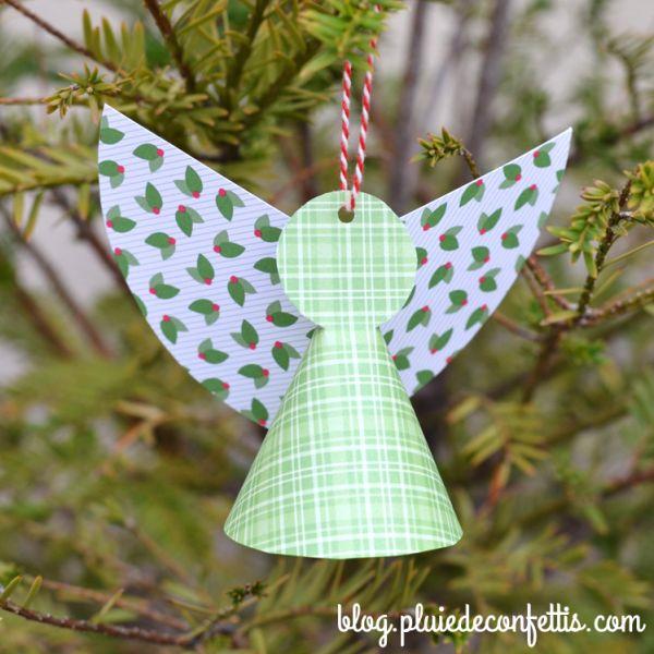 DIY - Anges en papier - Blog Pluie de confettis