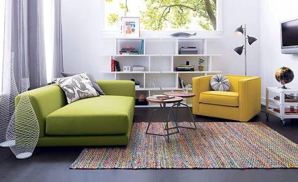Canapé compact à la chaux