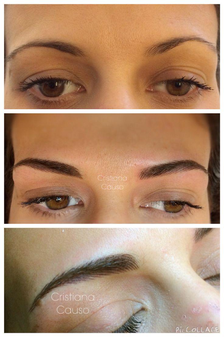 Hair Stroke Technique Eyebrows New Jersey - Pmu eyebrows