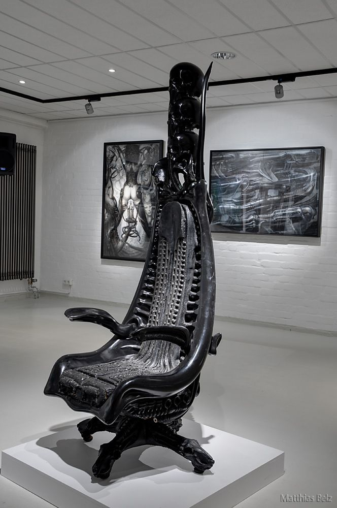 Exhibition at Fabrik der Künste, Hamburg, 2012 H.R.GIGER