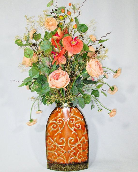 40 best Flower Arrangements images on Pinterest Silk flowers - silk arrangements for home decor