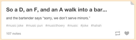 Top notch joke right there.   27 Cringey Yet Wonderful Jokes Only Classical Music Nerds Will Understand