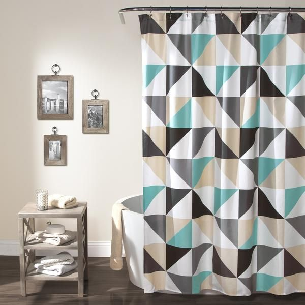 turquoise and black shower curtain. Abner Geo Shower Curtain 58 best Lush Bathrooms images on Pinterest  curtains
