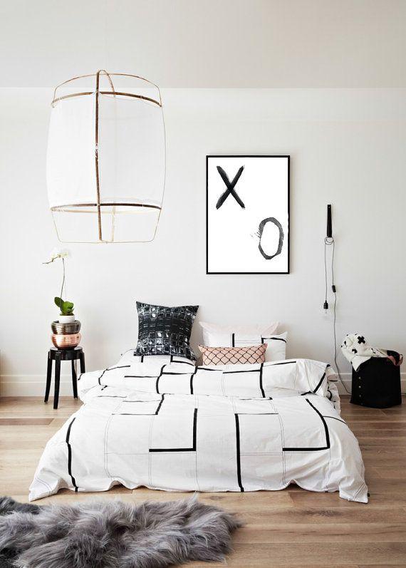 Poster minimalista xo scandinavo poster stampa digitale for Oggettistica per la casa moderna