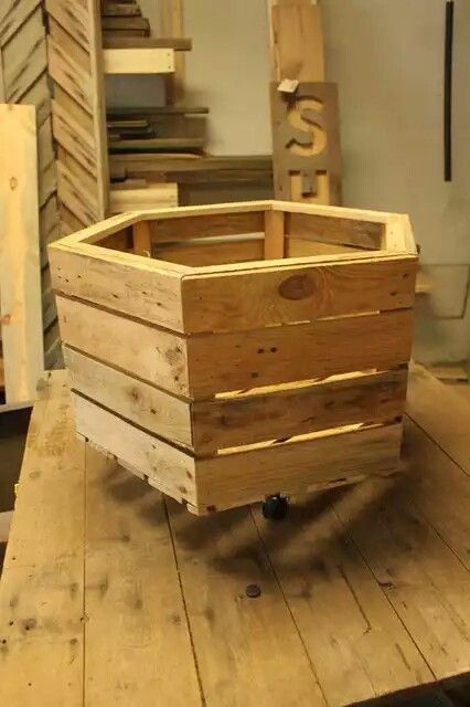 ... Pallet Toy Storage Container ..