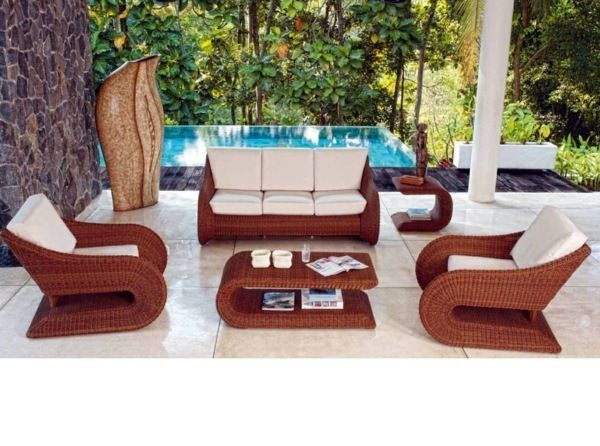 Elegant Lounge Furniture Made Of Polyrattan For Terrace And Garden Savillefurniture Outdoor Furniture Decor Garden Furniture Sets Modern Garden Furniture