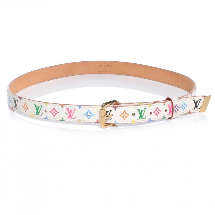 Louis Vuitton belt | LOUIS VUITTON Multicolor Belt White 70 28