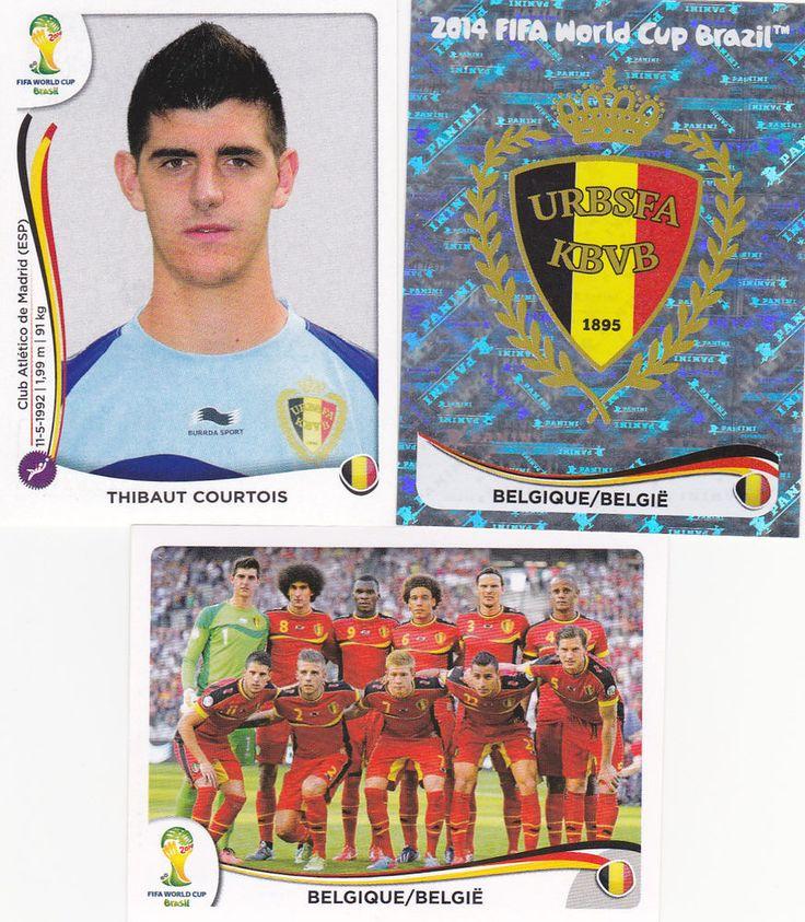 Panini FIFA 2014 World Cup Brazil -Complete Set of 19 Belgium Stickers    eBay